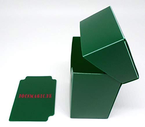 docsmagic.de 4 x Deck Box Full Green + Card Divider - Caja Verde - PKM YGO MTG