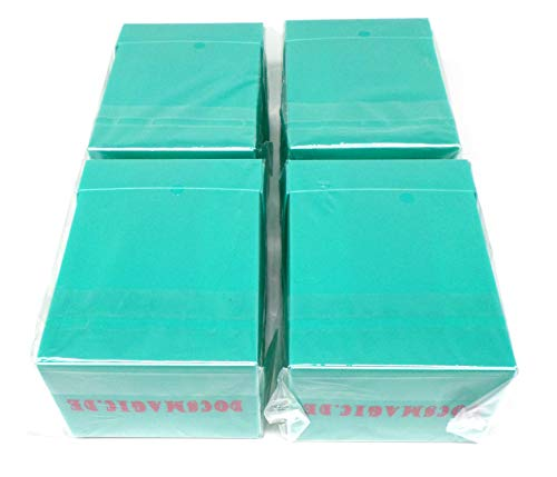 docsmagic.de 4 x Deck Box Full Mint + Card Divider - Caja Aqua - PKM YGO MTG