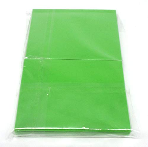docsmagic.de 5 x 100 Mat Light Green Card Sleeves Standard Size 66 x 91 - Verde Claro - Fundas - PKM MTG