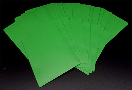 docsmagic.de 60 Mat Green Card Sleeves Small Size 62 x 89 - YGO CFV - Mini Fundas Verde