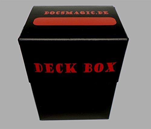 docsmagic.de 8 x Deck Box Black + Card Divider - Caja Negra - PKM - YGO - MTG