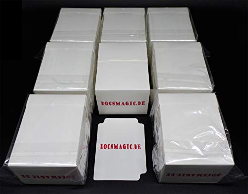 docsmagic.de 8 x Deck Box Full White + Card Divider - Caja Blanco - PKM YGO MTG