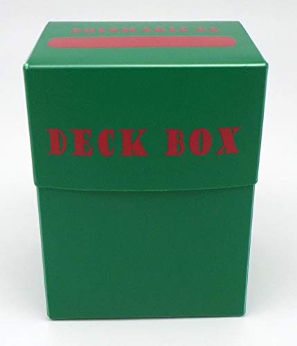 docsmagic.de 8 x Deck Box Green + Card Divider - Caja Verde - PKM - YGO - MTG