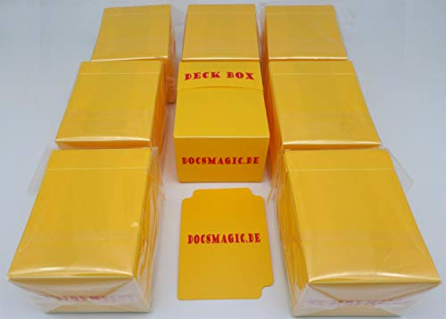 docsmagic.de 8 x Deck Box Yellow + Card Divider - Caja Amarillo - PKM - YGO - MTG