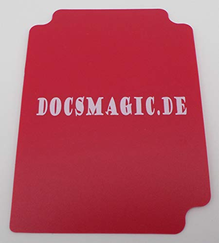 docsmagic.de Deck Box + 100 Double Mat Red Sleeves Standard - Caja & Fundas Roja - PKM - MTG