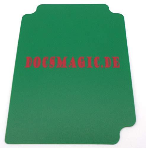 docsmagic.de Deck Box + 100 Mat Green Sleeves Standard - Caja & Fundas Verde - PKM - MTG