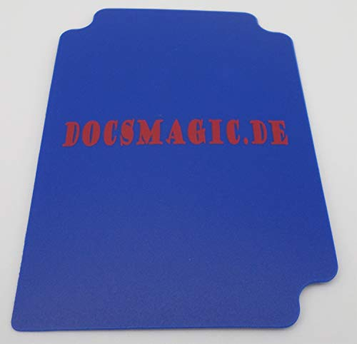 docsmagic.de Deck Box + 60 Mat Blue Sleeves Small Size - Mini Caja & Fundas Azul - YGO