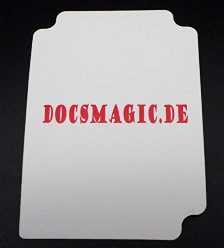 docsmagic.de Deck Box + 60 Mat White Sleeves Small Size - Mini Caja & Fundas Blanco - YGO