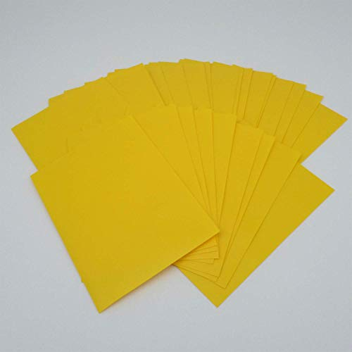 docsmagic.de Deck Box + 60 Mat Yellow Sleeves Small Size - Mini Caja & Fundas Amarillo - YGO