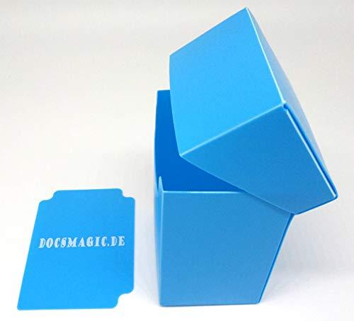 docsmagic.de Deck Box Full + 100 Double Mat Light Blue Sleeves Standard - Caja & Fundas Azul Claro - PKM MTG
