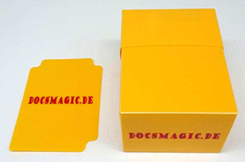docsmagic.de Deck Box Full Yellow + Card Divider - Caja Amarillo - PKM YGO MTG