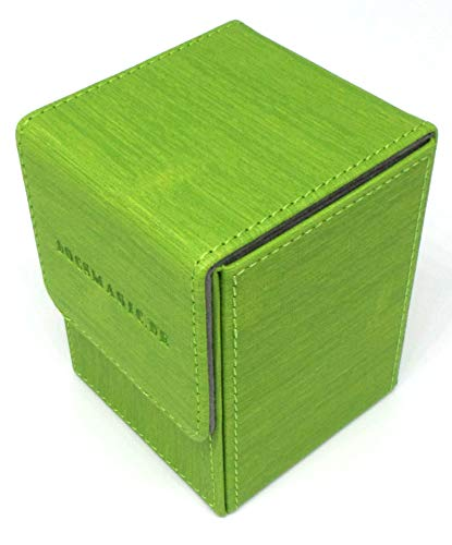docsmagic.de Premium Magnetic Flip Box (100) Light Green + Deck Divider - MTG - PKM - YGO - Caja Verde Claro