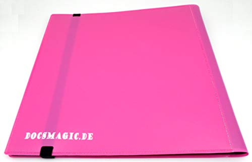 docsmagic.de Pro-Player 12-Pocket Playset Album Pink - 480 Card Binder - MTG - PKM - YGO - Álbum para Tarjetas Rosa