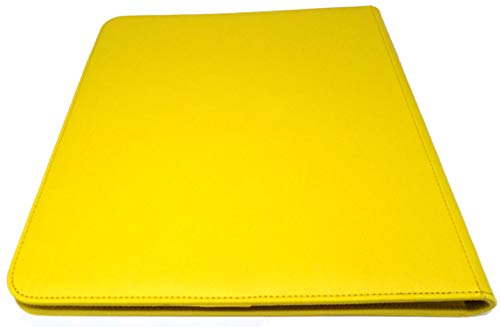 docsmagic.de Pro-Player 12-Pocket Playset Zip-Album Yellow - 480 Card Binder - MTG - PKM - YGO - Cremallera Amarillo