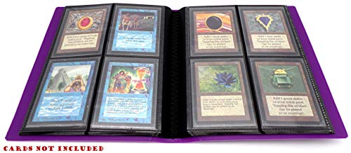 docsmagic.de Pro-Player 4-Pocket Album Purple - 160 Card Binder - MTG - PKM - YGO - Álbum para Tarjetas púrpura