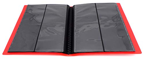 docsmagic.de Pro-Player 4-Pocket Album Red - 160 Card Binder - MTG - PKM - YGO - Álbum para Tarjetas Roja