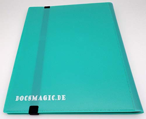 docsmagic.de Pro-Player 9-Pocket Album Mint - 360 Card Binder - MTG - PKM - YGO - Álbum para Tarjetas Aqua