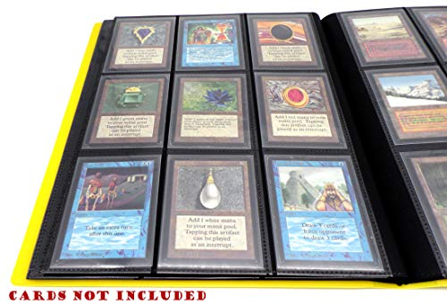 docsmagic.de Pro-Player 9-Pocket Album Yellow - 360 Card Binder - MTG - PKM - YGO - Álbum para Tarjetas Amarillo