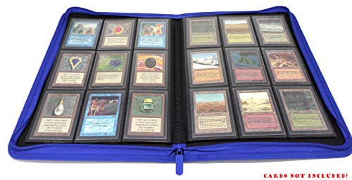 docsmagic.de Pro-Player 9-Pocket Zip-Album Dark Blue - 360 Card Binder - MTG - PKM - YGO - Cremallera Azul Oscuro