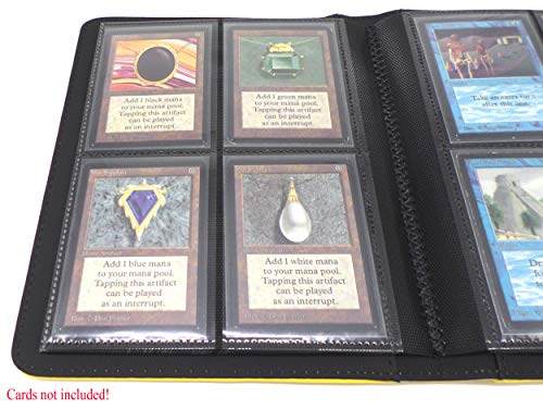 docsmagic.de Pro-Player Premium 4/8-Pocket Album Yellow - 160 Card Binder - MTG - PKM - YGO - Álbum para Tarjetas Amarillo