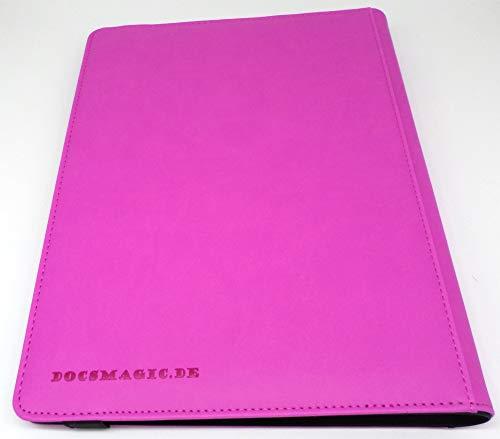 docsmagic.de Pro-Player Premium 9/18-Pocket Album Purple - 360 Card Binder - MTG - PKM - YGO - Álbum para Tarjetas Púrpura