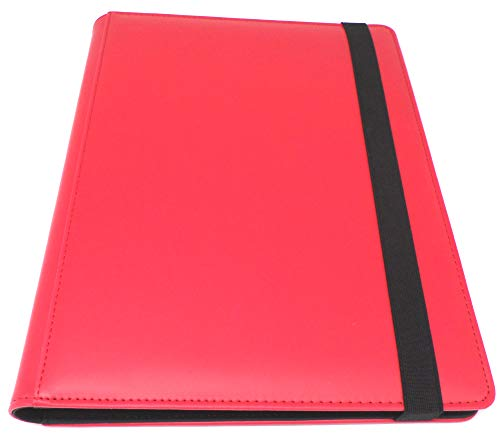 docsmagic.de Pro-Player Premium 9/18-Pocket Album Red - 360 Card Binder - MTG - PKM - YGO - Álbum para Tarjetas Roja