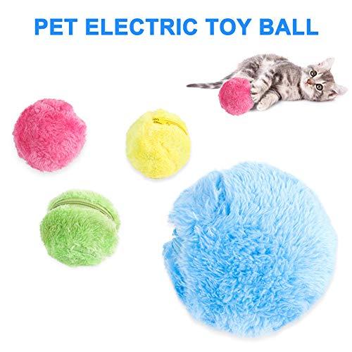 Domeilleur Magic Roller Ball Automatic Dog Cat Toys Robotic Microfiber Mop Sweeper Ball