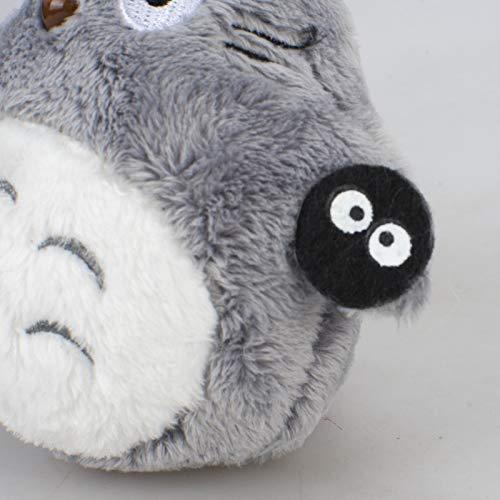 Dpliu Felpa 10cm Juguete Regalos de la Felpa de Totoro Totoro Juguetes Animado Llavero de Juguete de Peluche de Felpa de Totoro Colgante Accesorios de Las muñecas Paquete Cumpleaños Infantiles