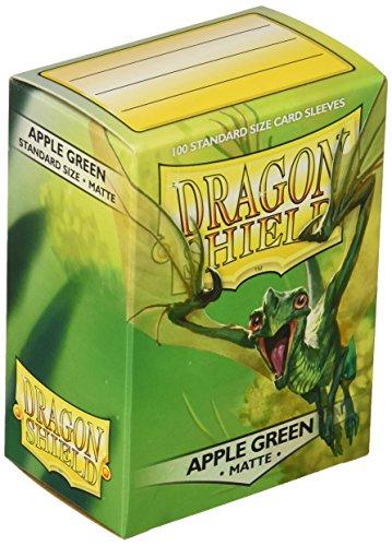 Dragon Shield - 11018Mangas estándar Verde Manzana Mate (100Mangas)