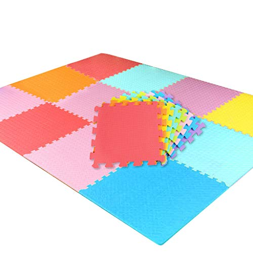 DressLksnf Kids Play Mat Multi-Color Puzzle Excise Mat Eva Foam Floor Safe Playmat Alfombrilla de Tatami para Niños