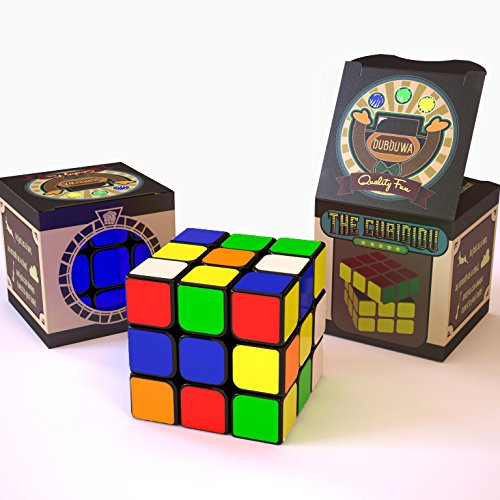 Dubiduwa The CUBIDIDU 3x3 - Magic Cube - Er lässt Sich schneller und präziser drehen als Das Original / Der Klassische Zauberwürfel! - Speedcube 3x3x3