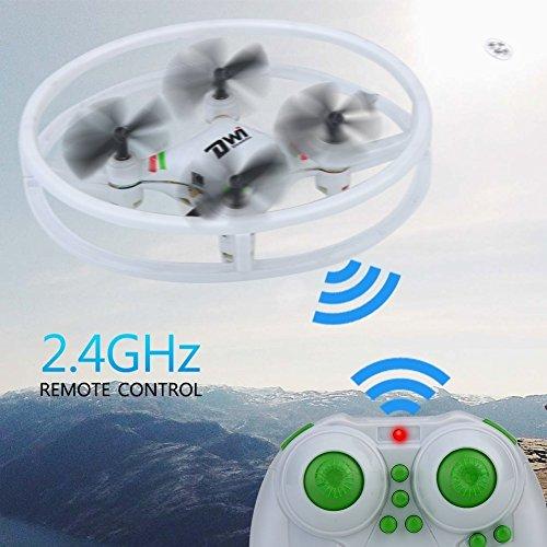 DW1 Mini Quadcopter Drone Marco de protección contra colisión Space Trek UFO diseño sin Cabeza Modo Drone Toy con Funda de Transporte