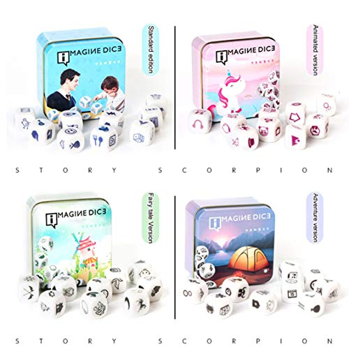 Dynamovolition New Telling Story Dice Game Story Metal Box/Bag Instrucciones en inglés Family Twisty Puzzle Rompecabezas Story Cubes Toys