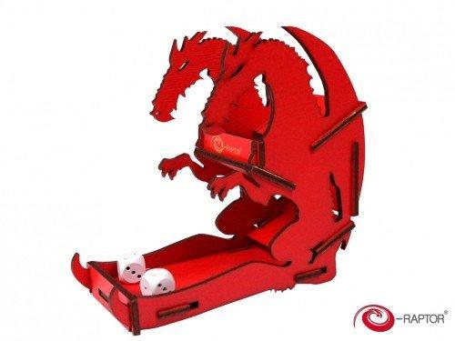 E-Raptor era19041Dados Torres pequeño Dados Torre dragón Juego de Mesa, Rojo