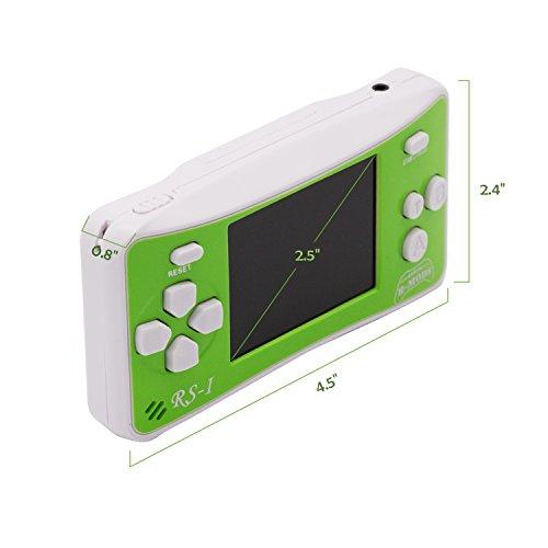 """E-WOR - Videoconsola portátil de 8 bits con Pantalla LCD de 2,5"""" y 162 Videojuegos"""