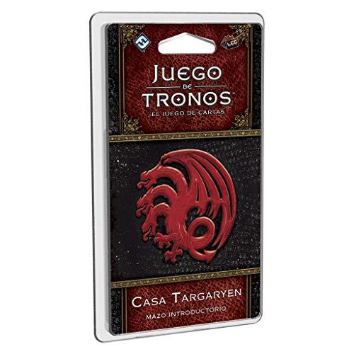 Edge Entertainment- Juego de Tronos LCG: Mazo introductorio de la Casa Targaryen - Español, Multicolor (GT43ES)