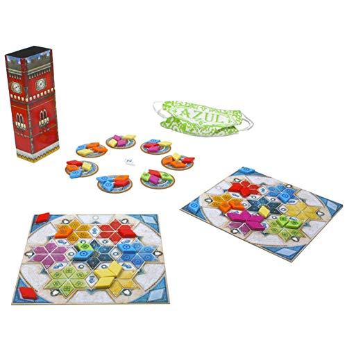 EDK Juegos de Mesa para Adultos Azul - Verano Pabellón Edición del vitral de la baldosa cerámica del Partido Juego Puzzle Juguetes Gadget - Regalos para la Familia Amigos Hombres Mujeres Niño