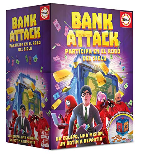 Educa-Borrás- Bank Attack Juego de Mesa, Color versión española (18349) , color/modelo surtido