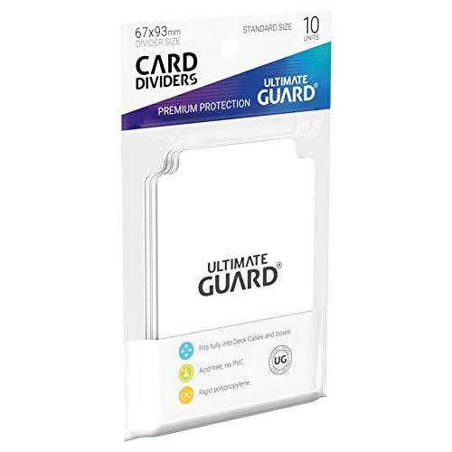 Êltimo Guardia - 10 separadores para Tarjetas estándar Blanco Tarjeta Divisor