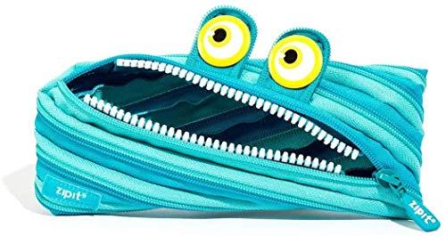 Estuche Zipit ZTM-WD-CRE Wildlings, de una sola cremallera larga, color azul