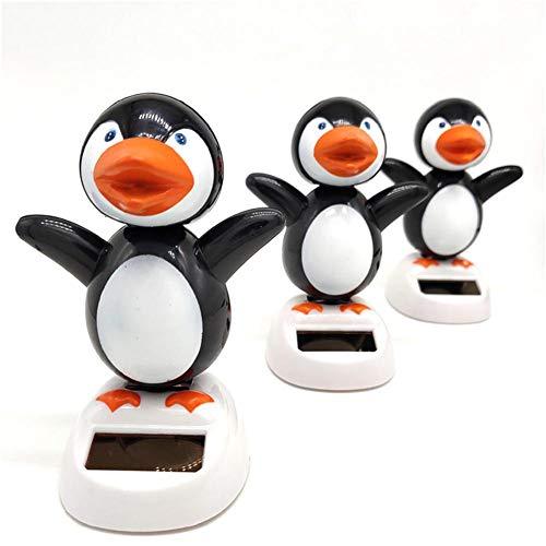 Explea Cute Penguin Figure Toy Car Interior Gift Animal Dancing Solar Swinging Doll Decoración del Coche Solar Car Decoration Cute Penguin Toy Popular