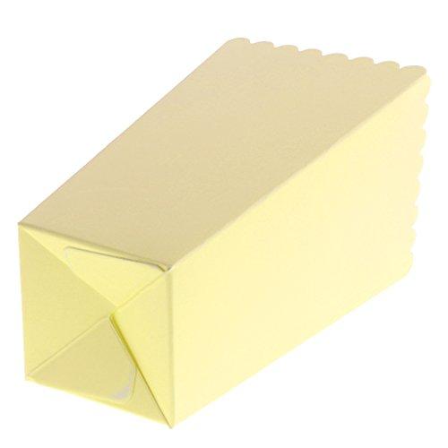 F Fityle 16 Unids Verde Caja de Cartón Contenedor de Palomitas de Maíz Bolsa de Papel para Regalo