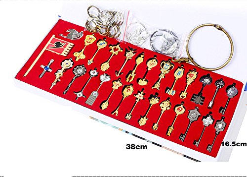 Fairy Tail Key 29 Golden Zodiac Keys Necklace Set Prop Accessories by CTMBB
