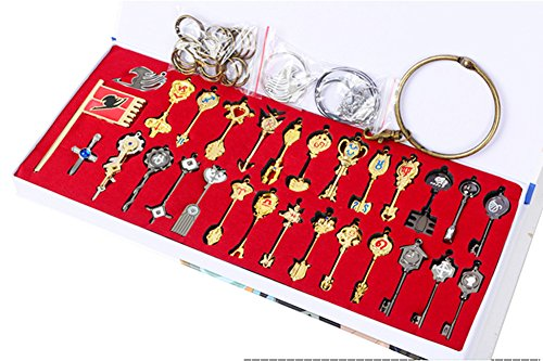 Fairy Tail Key 29 Golden Zodiac Keys Necklace Set Prop Accessories by CTMBB