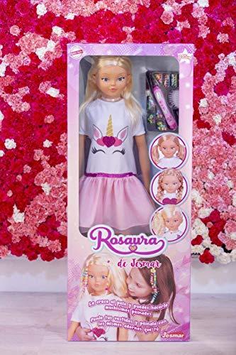 Falca-MUÑECA Rosaura 105 CM ¡LE Crece EL Pelo, Multicolor (85510)