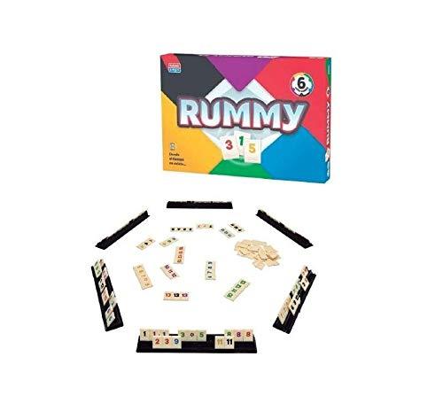 Falomir Rummy 6. Juego de Mesa. Clásicos, Multicolor (1)