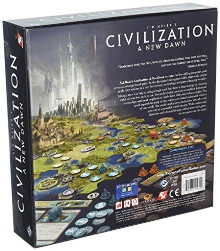 Fantasy Flight Games FFGCIV01 SID Meier's Civilization: A New Dawn - Juego de Mesa (Contenido en alemán)