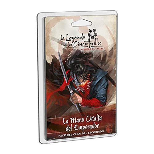 Fantasy Flight Games-La Leyenda de los Cinco Anillos LCG: La Mano Oculta del Emperador-Español, Color (Dungeons Y Dados EDF0FFL5C15)