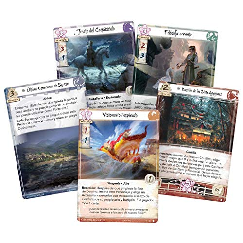 Fantasy Flight Games- Leyenda de los Cinco Anillos LCG - Manto de tinieblas, Color (L5C30ES)