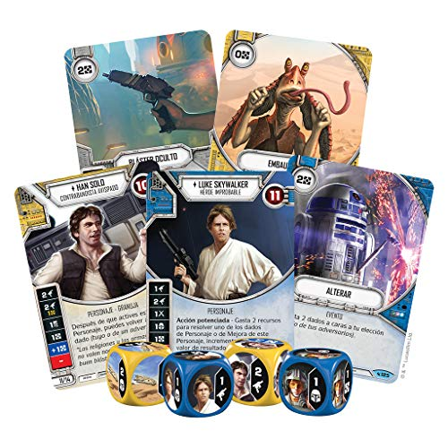 Fantasy Flight Games- Star Wars Destiny: Caja de Inicio: Luke Skywalker - Español, Color (FFSWD10)